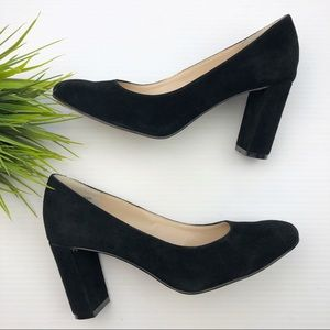 J. Jill  black Suede block heel pumps